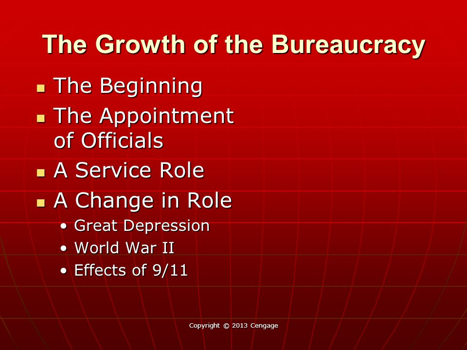 The Federal Bureaucracy Today Has the size of the Federal bureaucracy increased since 1960.