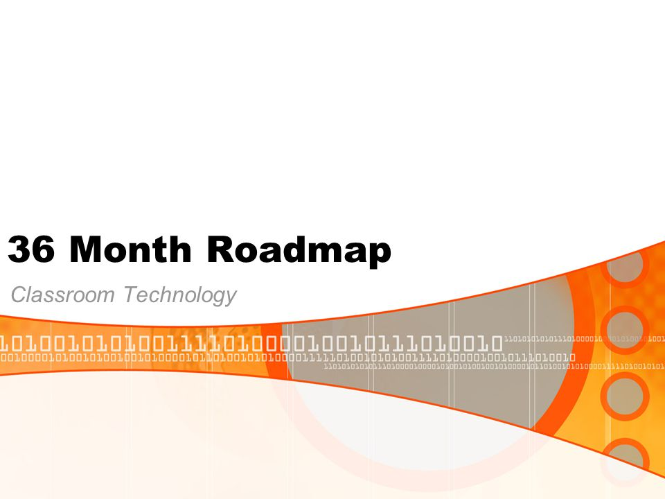 36 Month Roadmap Classroom Technology