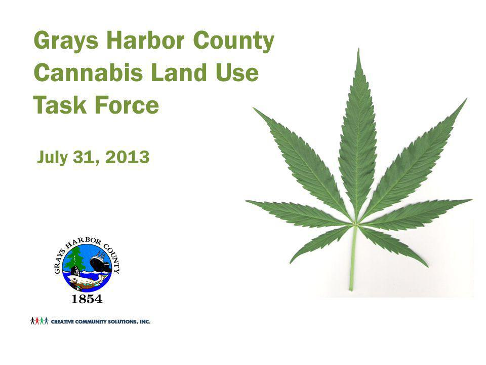 Grays Harbor County Cannabis Land Use Task Force July 31, 2013