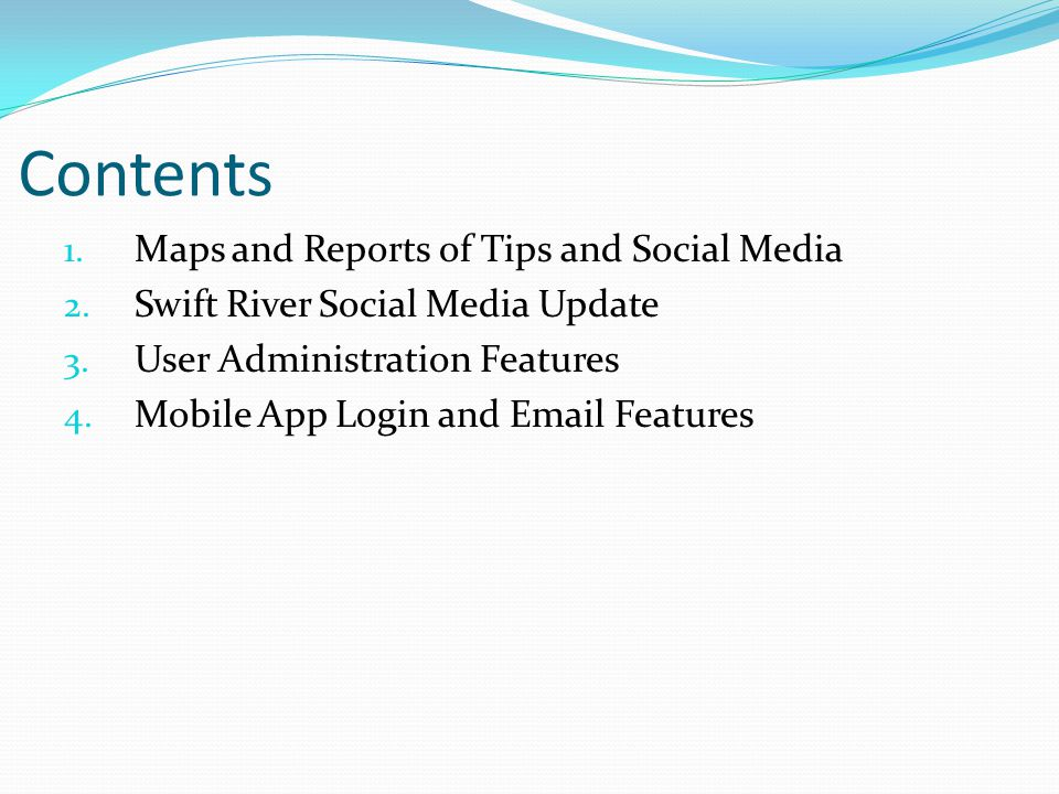 Maps and Reports Tips and Social Media Dashboard Regional and Local Maps Tip Details and Reports New Data Layers