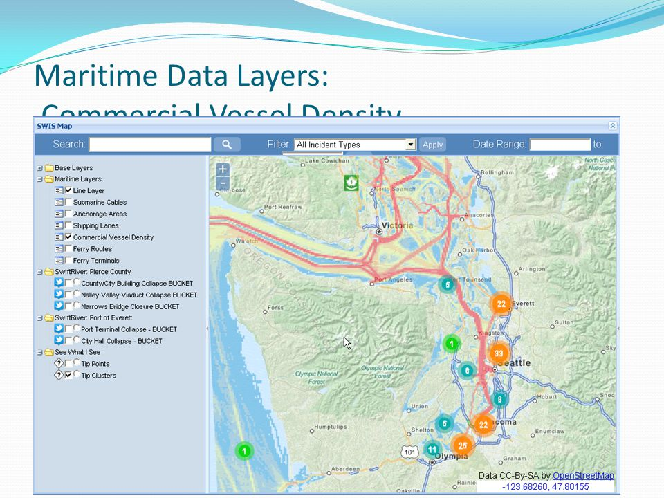 Maritime Data Layers: Commercial Vessel Density