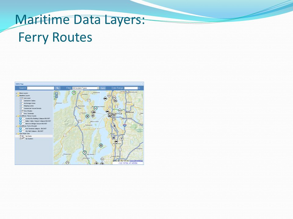 Maritime Data Layers: Ferry Routes