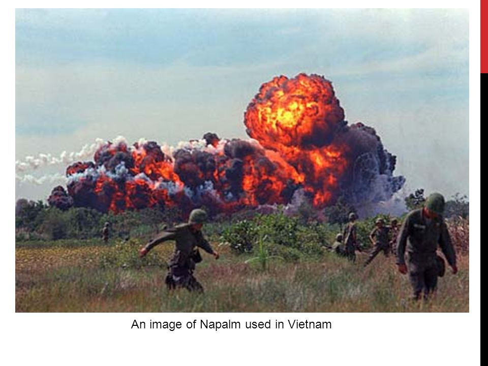 An image of Napalm used in Vietnam