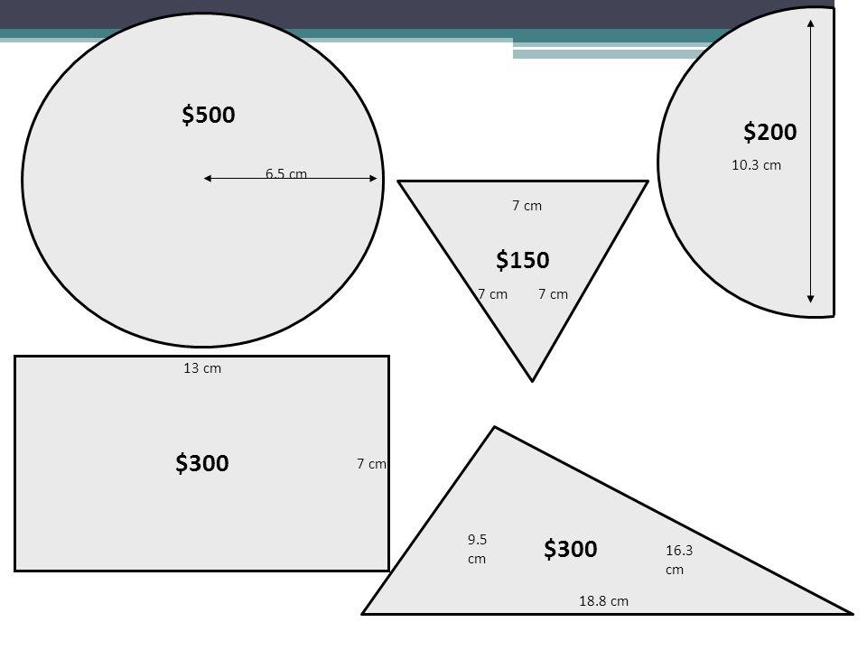 6.5 cm $500 $300 13 cm 7 cm 9.5 cm 16.3 cm 18.8 cm $300 7 cm $150 10.3 cm $200