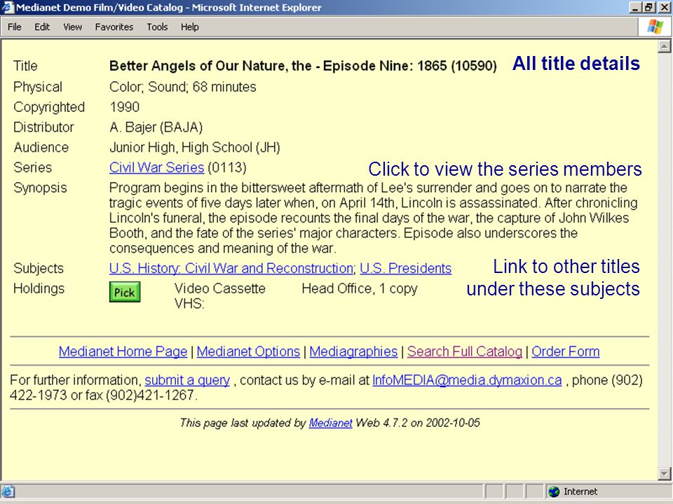 Subject search results The numbers in parentheses show how many titles are listed under each subject.