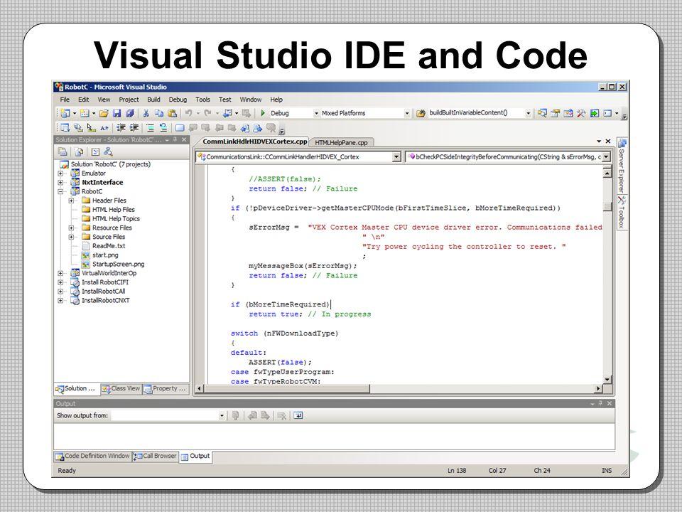 Visual Studio IDE and Code