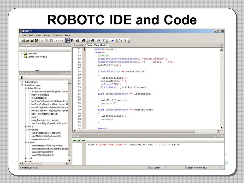 ROBOTC IDE and Code