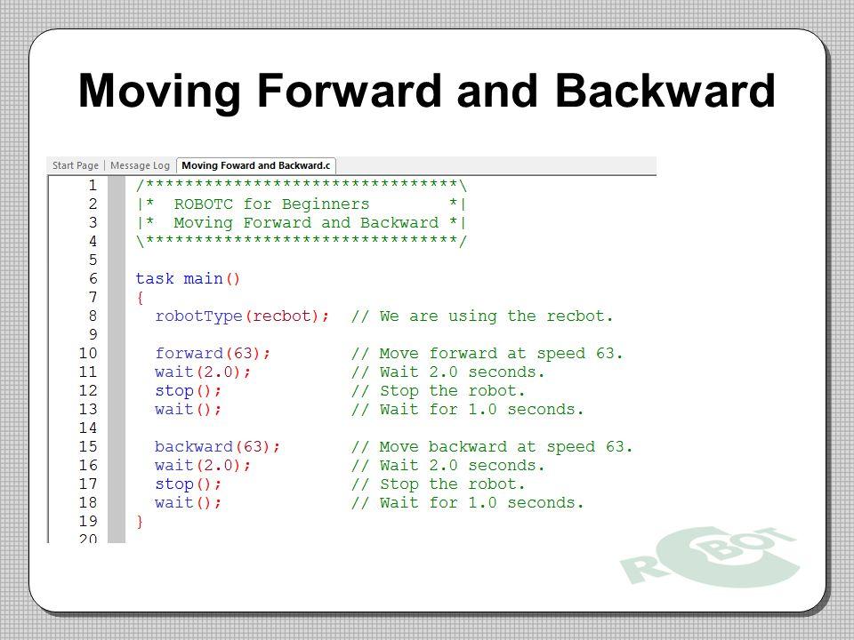 Moving Forward and Backward