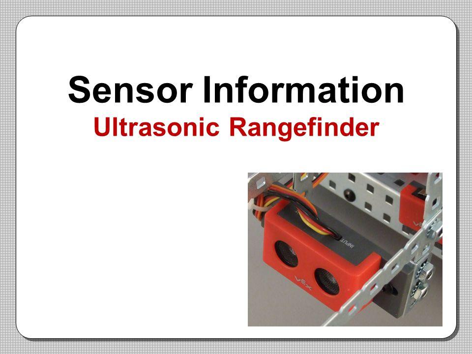 Sensor Information Ultrasonic Rangefinder