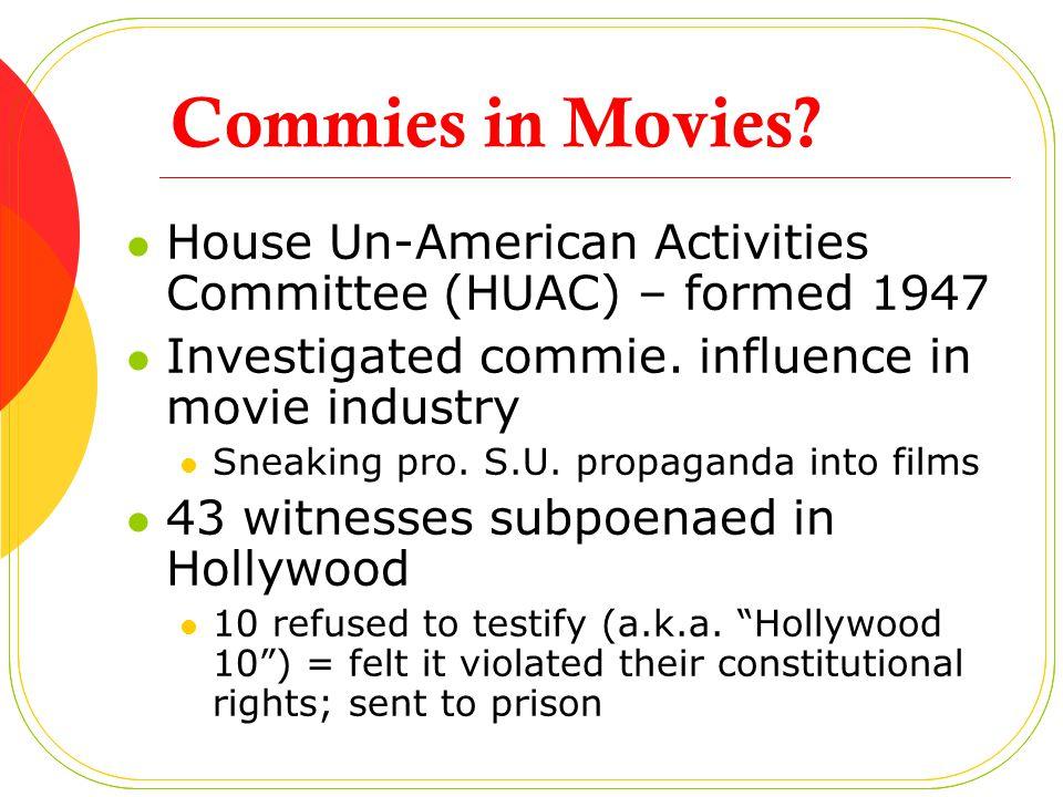 HUAC Outcome Hollywood execs.