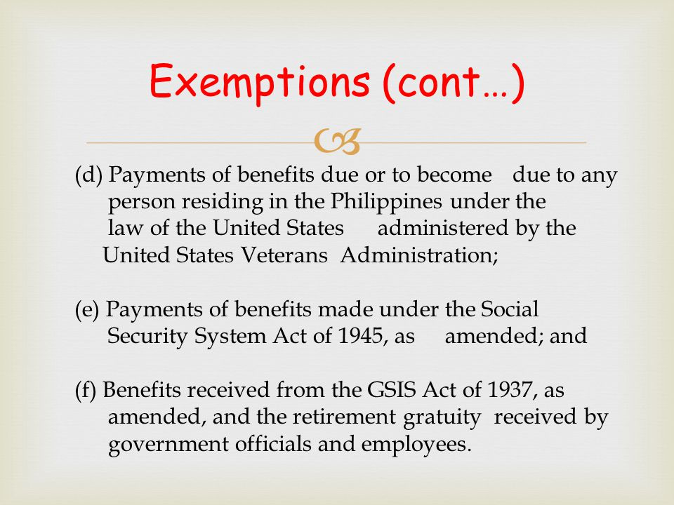  * Optional for taxable year 2001 * Mandatory effective taxable year 2002 Effectivity of Substituted Filing