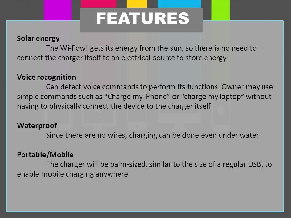 Solar energy The Wi-Pow.