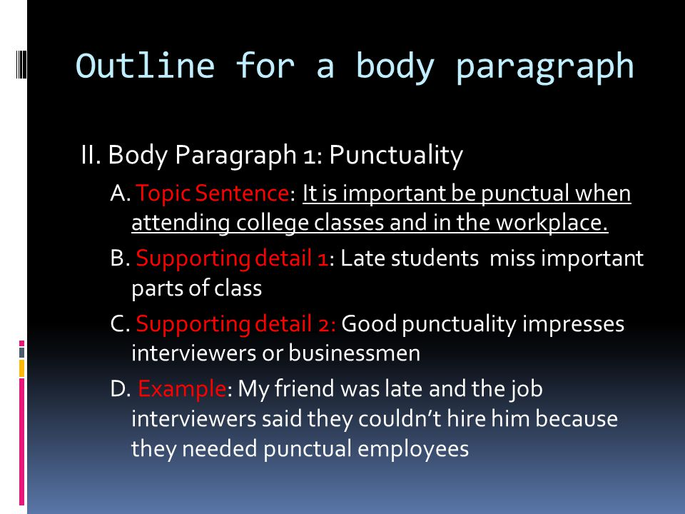 discipline and punctuality essays