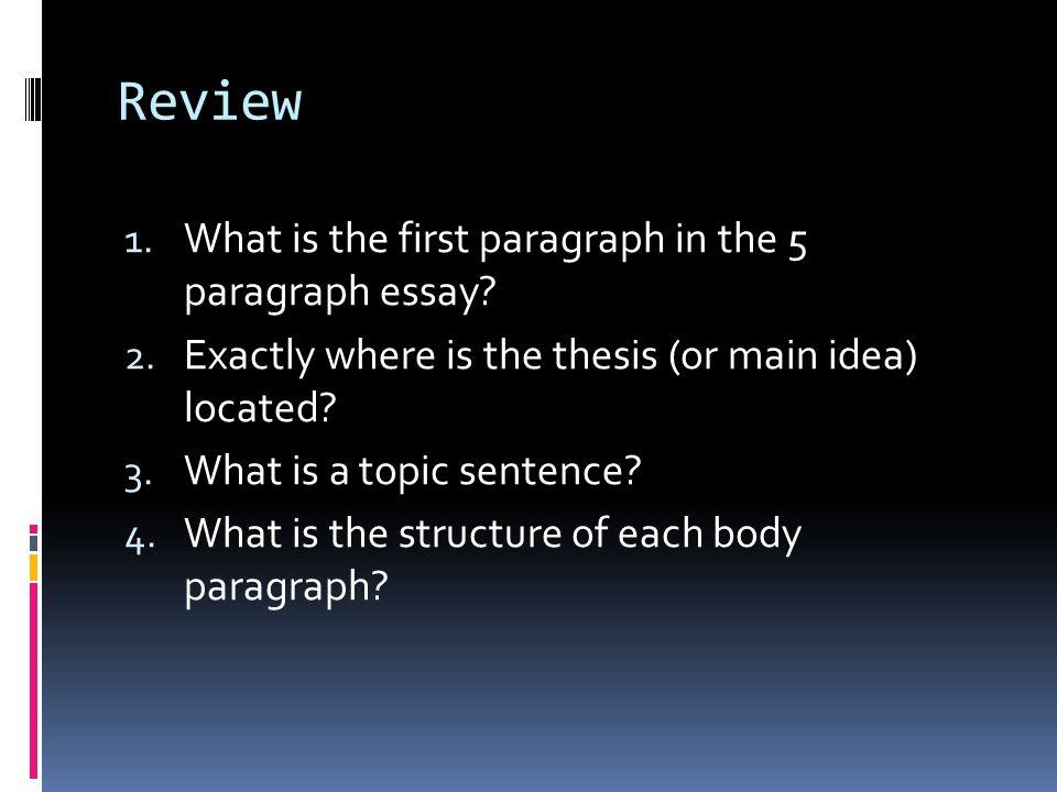 where do u put the thesis statement