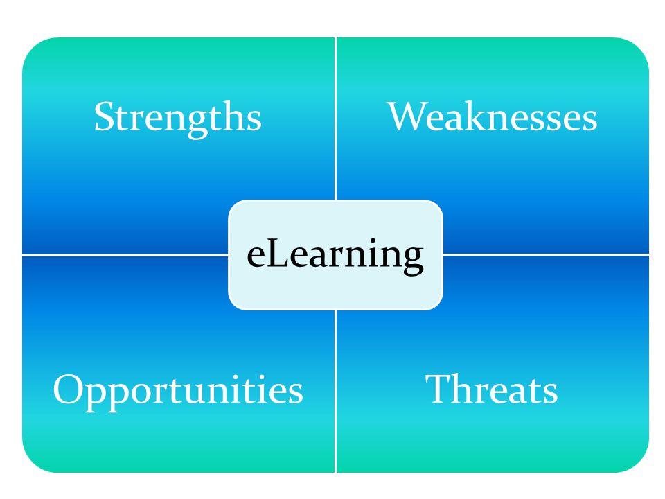 StrengthsWeaknesses OpportunitiesThreats eLearning