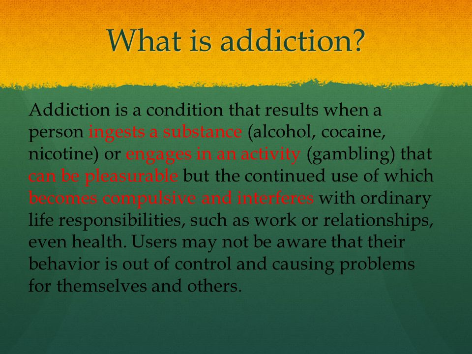 ControlAddicted Dopamine D2 Receptors are Decreased by Addiction Functionally… DA D2 Receptor Availability Cocaine Alcohol Heroin Meth