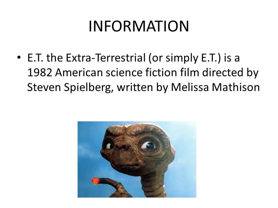 INFORMATION E.T.