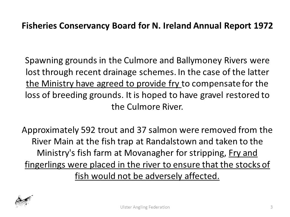 3Ulster Angling Federation Fisheries Conservancy Board for N.