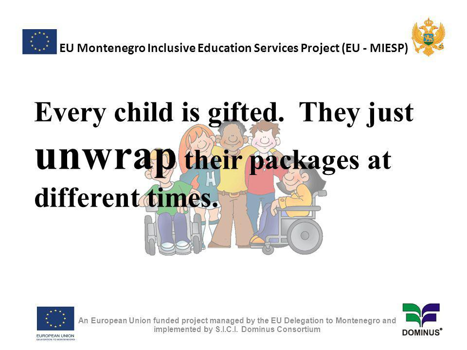EU Montenegro Inclusive Education Services Project (EU - MIESP) Some people who really help us with autism : -Leo Kanner -Hans Asperger -Bruno Bettelheim -Bernard Rimland -Ole Ivar Lovaas An European Union funded project managed by the EU Delegation to Montenegro and implemented by S.I.C.I.