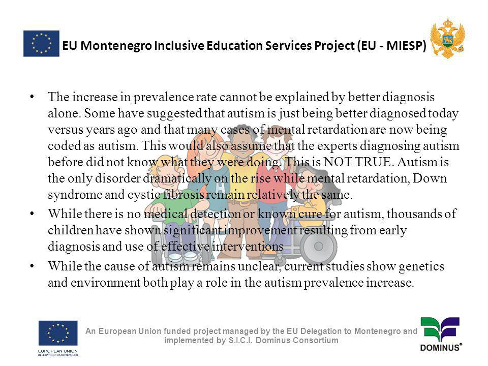EU Montenegro Inclusive Education Services Project (EU - MIESP) Resource Center is Institute works to build community capacity through its collaborative efforts with institutions of higher education, state and local government agencies, community service providers, persons with disabilities and their families, and advocacy organizations.