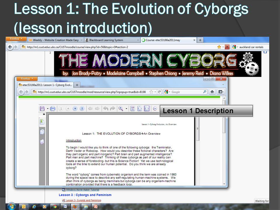 Lesson 1 Description