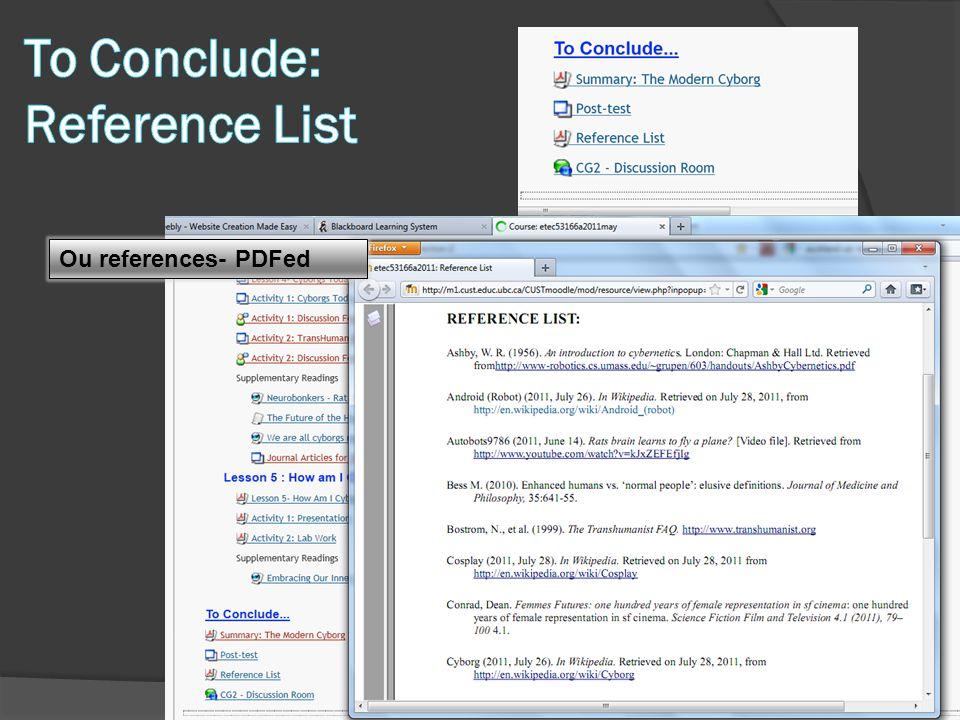 Ou references- PDFed