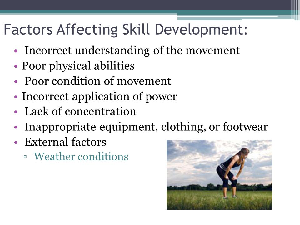 Stages of Motor Learning: Fitts and Posner's stages-of-learning model: ▫ Cognitive Stage:  Basic understanding of task  Learner commits relatively large errors; may need specific instruction on how to improve ▫ Associative Stage:  Learner begins to refine skill  Develop awareness of mistakes  Effort becomes more consistent ▫Autonomous Stage:  Skill becomes automatic  Aware of mistakes and how to correct them