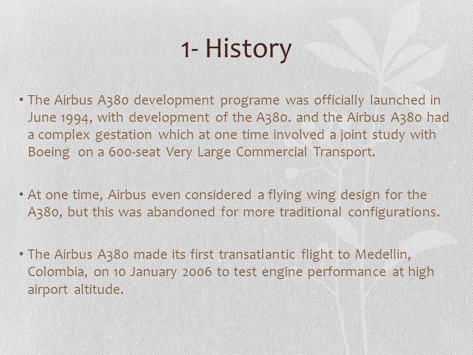 2- Airbus A380 characteristics.