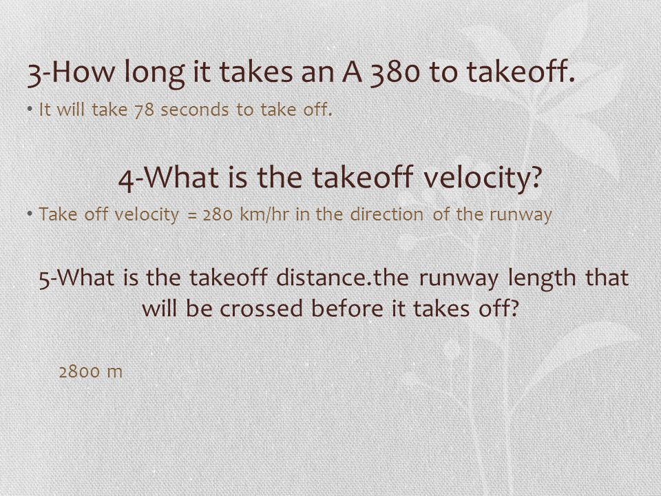 TASK 2 Questions : 1-Waiting at the airport 2-Taking-off Distance and Time 3- Speed of an airplane by Radar 4- Aircraft Glide Path 5-Shock wave : Doppler Effect