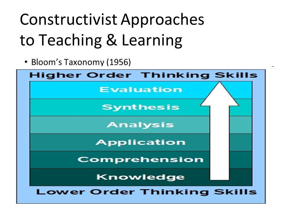Constructivist Approaches to Teaching & Learning Bloom's Taxonomy (1956)
