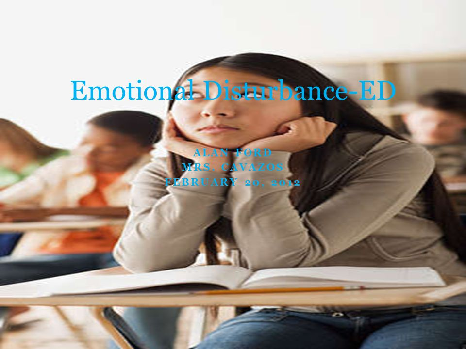 Definition IDEA defines Emotional Disturbance as a condition exhibiting one or more of the following characteristics over a long period of time and to a marked degree that adversely affects a child's educational performance :  An inability to learn that cannot be explained by intellectual, sensory, or health factors.