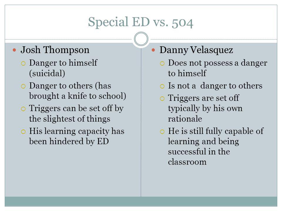 Special ED vs.