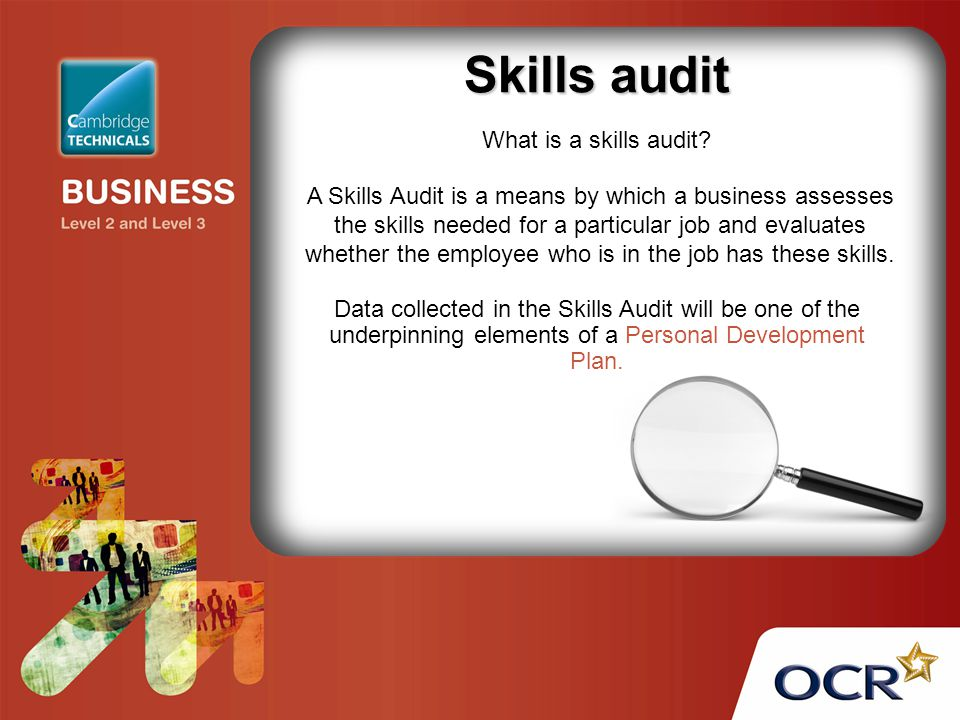 Skills audit What is a skills audit.