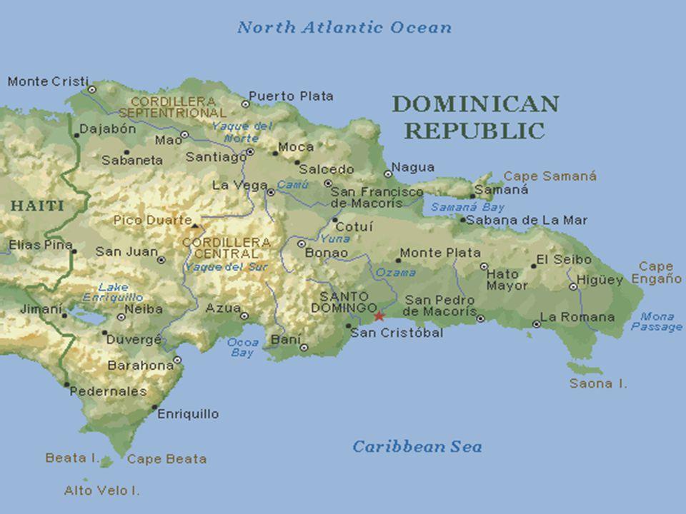 Some characteristics of the Dominican Republic  Area: 48,442 km².