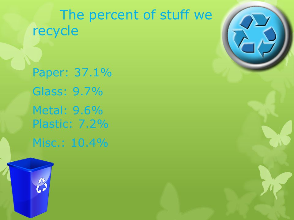 Why do many people recycle Many people recycle to have a better world and a better life.
