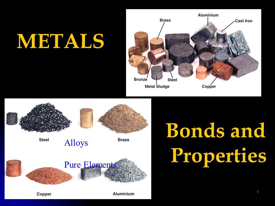 1 METALS Bonds and Properties Alloys Pure Elements