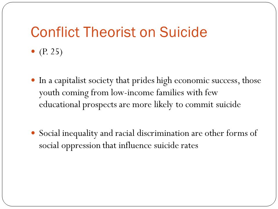 Conflict Theorist on Suicide (P.
