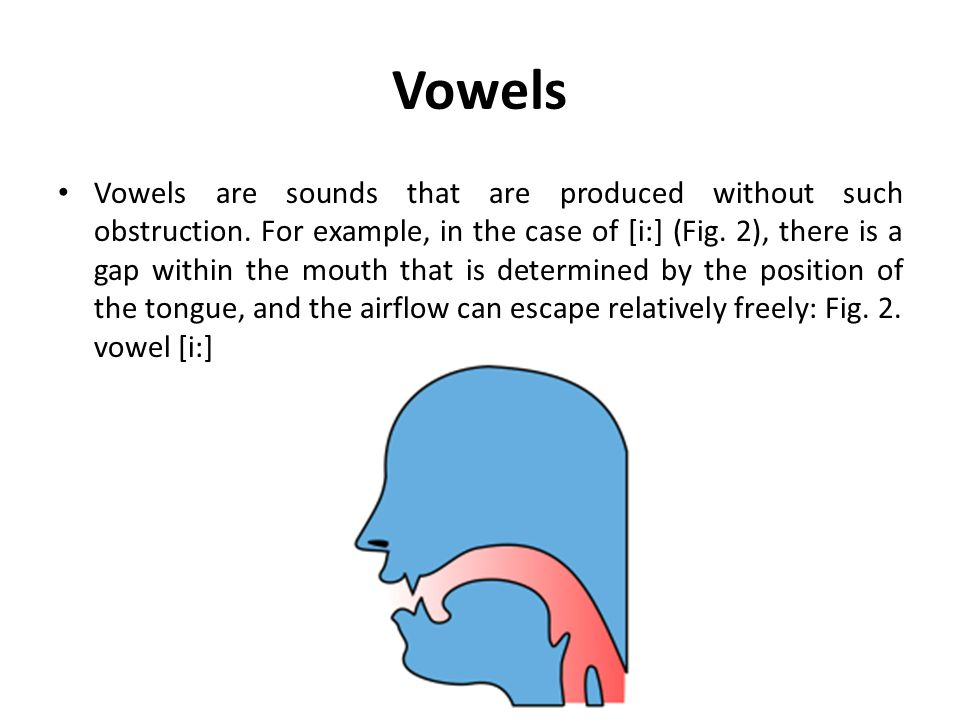 Voiced and voiceless Another difference between consonants and vowels is that vowels are generally voiced, i.e.