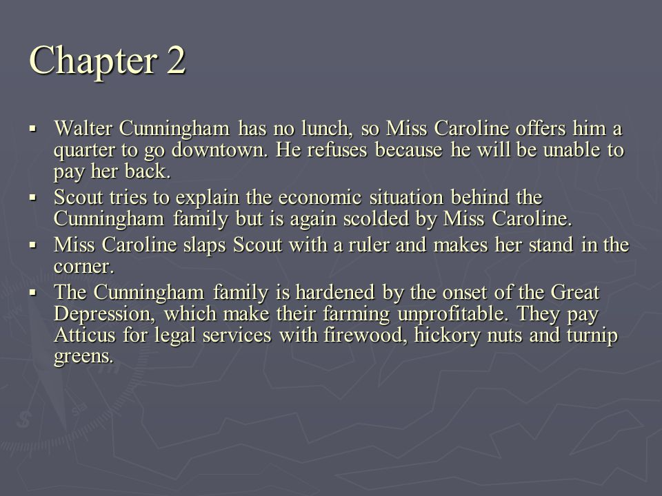 Chapter 18  Atticus pleads with Mayella to admit that there was no rape and that her father beat her.