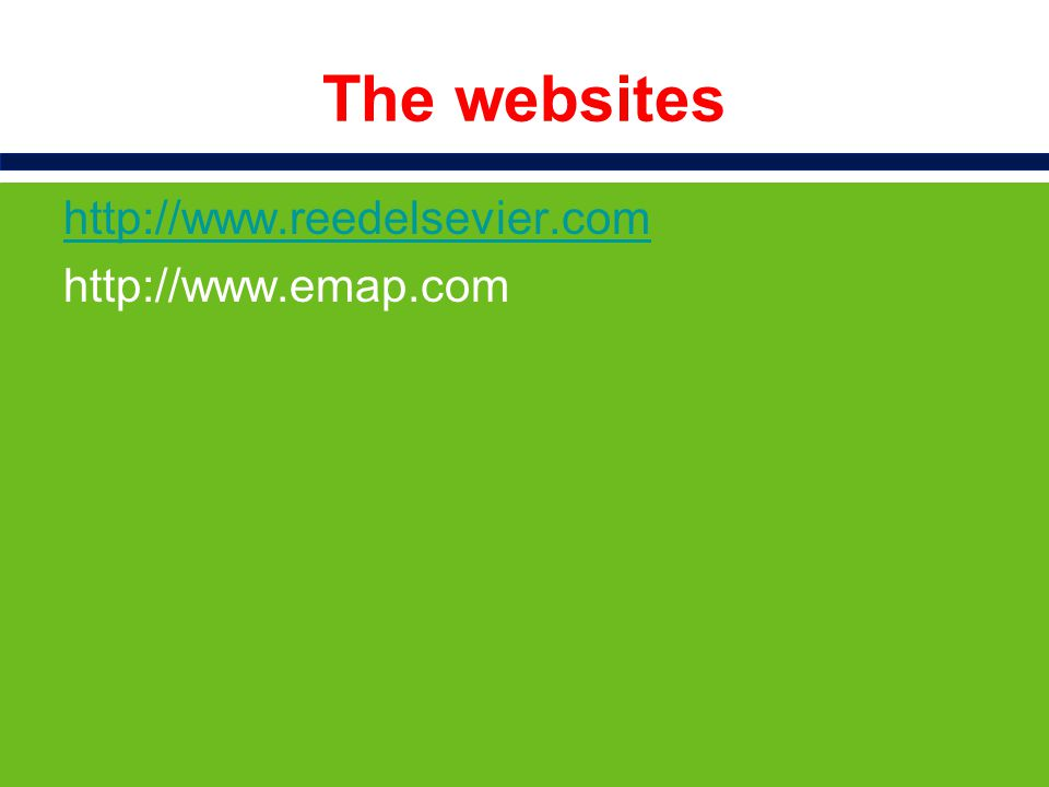 The websites