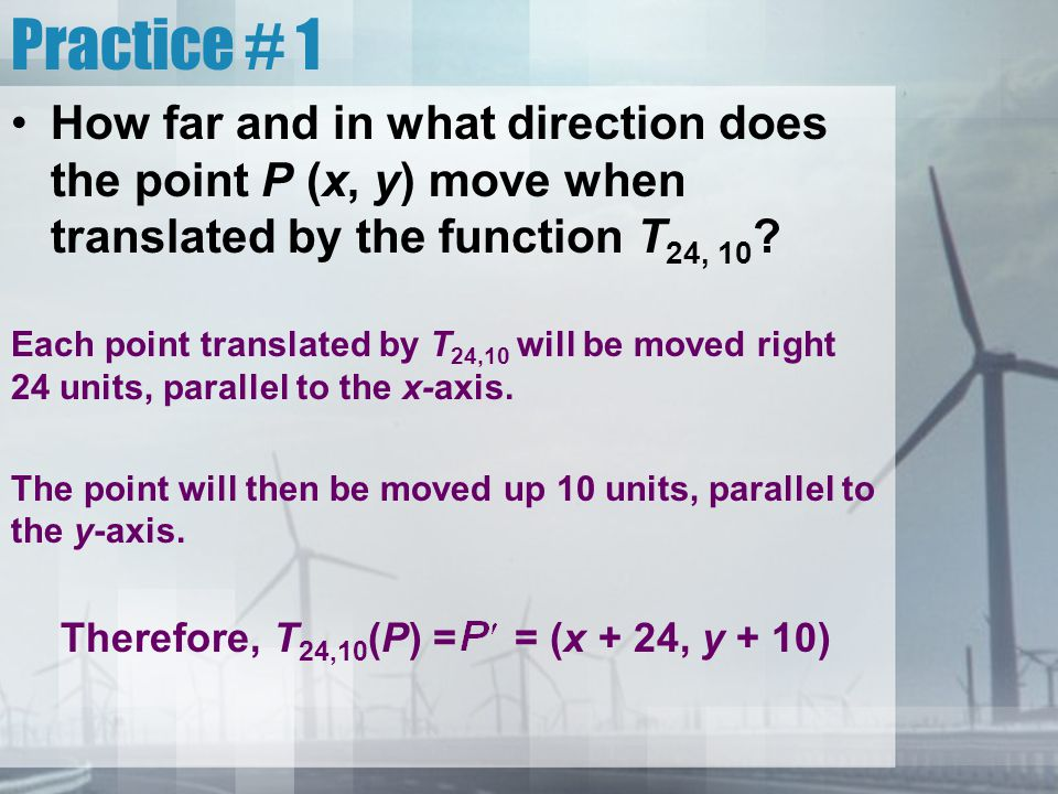 Rotations Depending on the point and angle of rotation, the function describing a rotation can be complex.