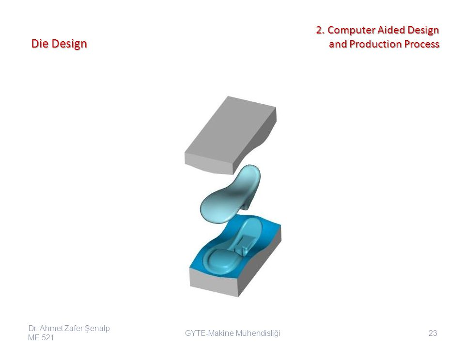 Die Design GYTE-Makine Mühendisliği Dr. Ahmet Zafer Şenalp ME 521 23 2.