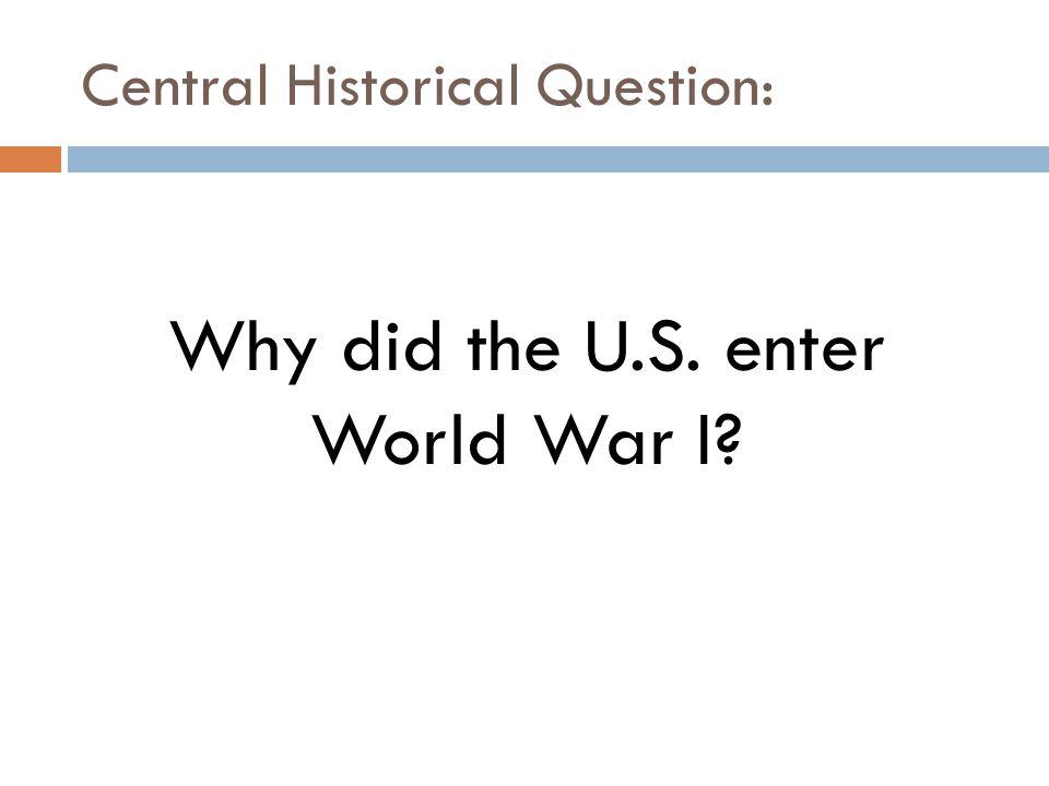 WWI General Background Info  Allied vs.
