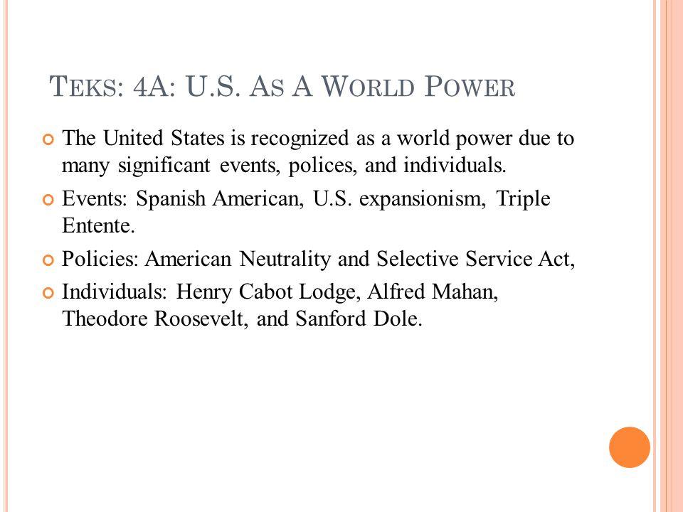 T EKS : 4A: U.S.