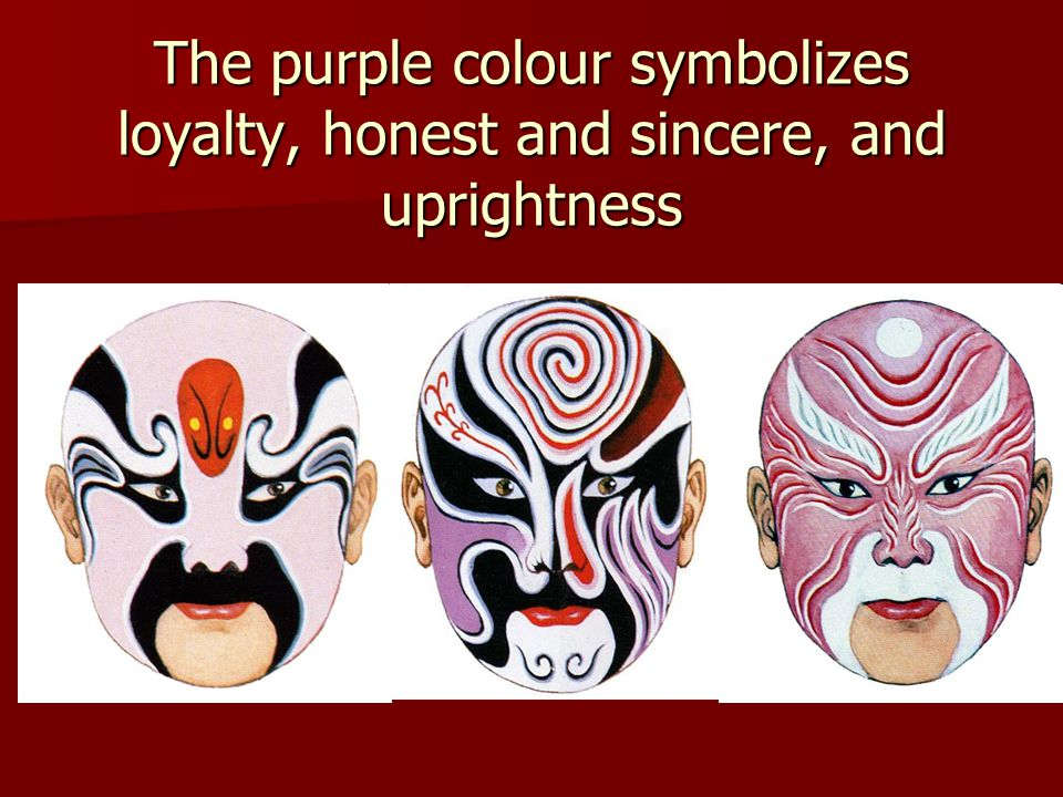 The purple colour symbolizes loyalty, honest and sincere, and uprightness