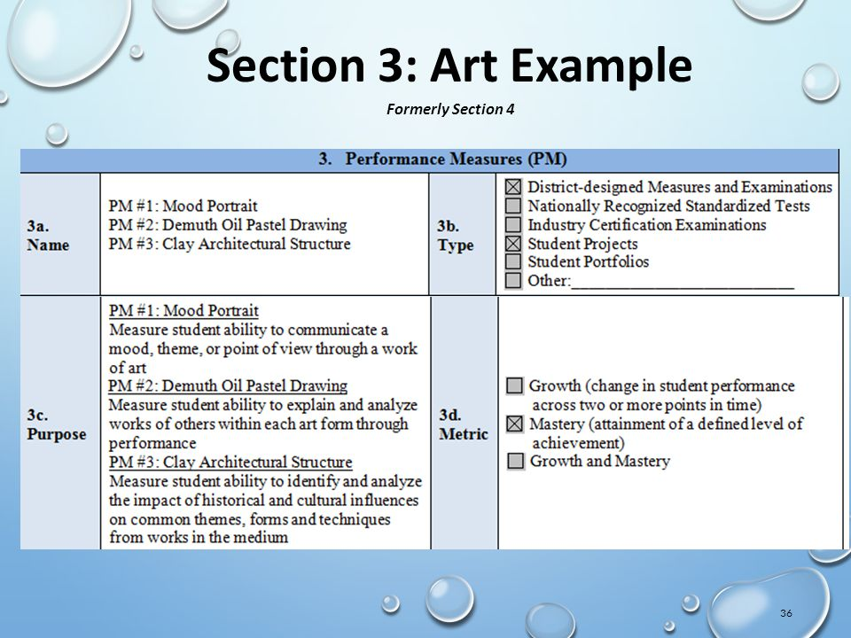 36 Section 3: Art Example Formerly Section 4