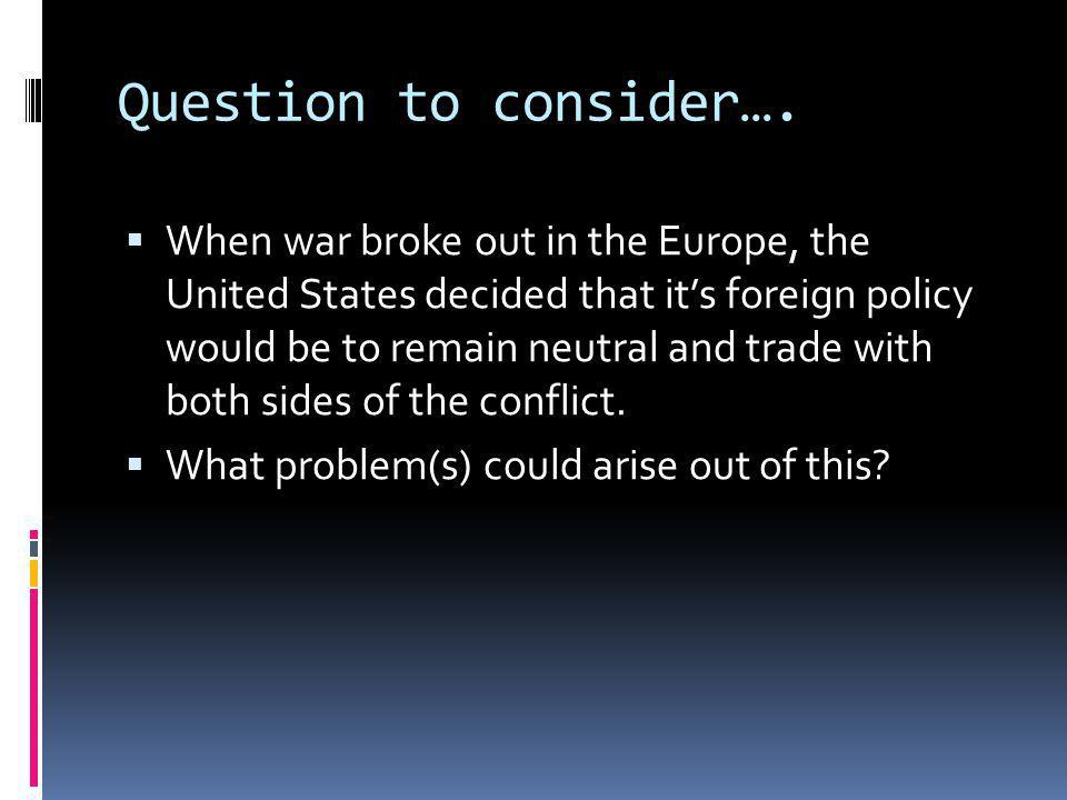 Question to consider….