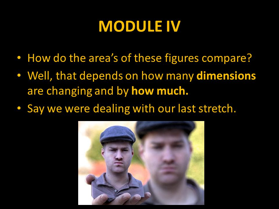 MODULE IV How do the area's of these figures compare.
