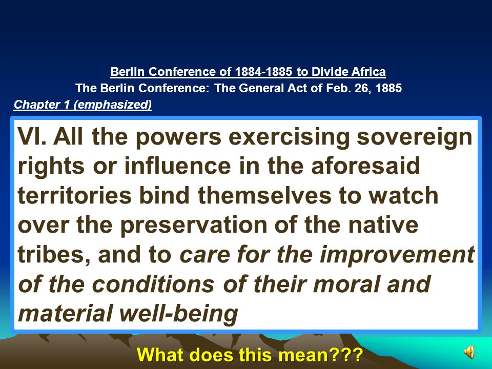 European Imperialism in Africa – 4:08 http://www.youtube.com/watch v=OJe1W_HIWmA