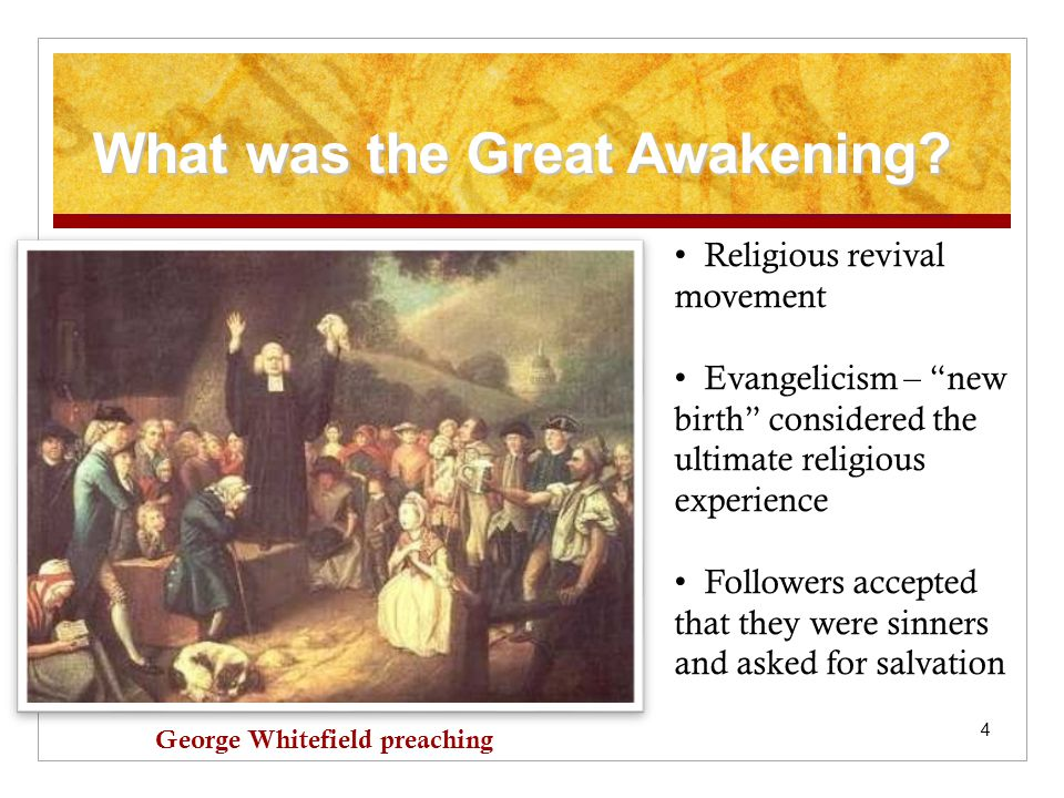 5 Before the Great Awakening Before the 1730s, most colonies had two established religions.